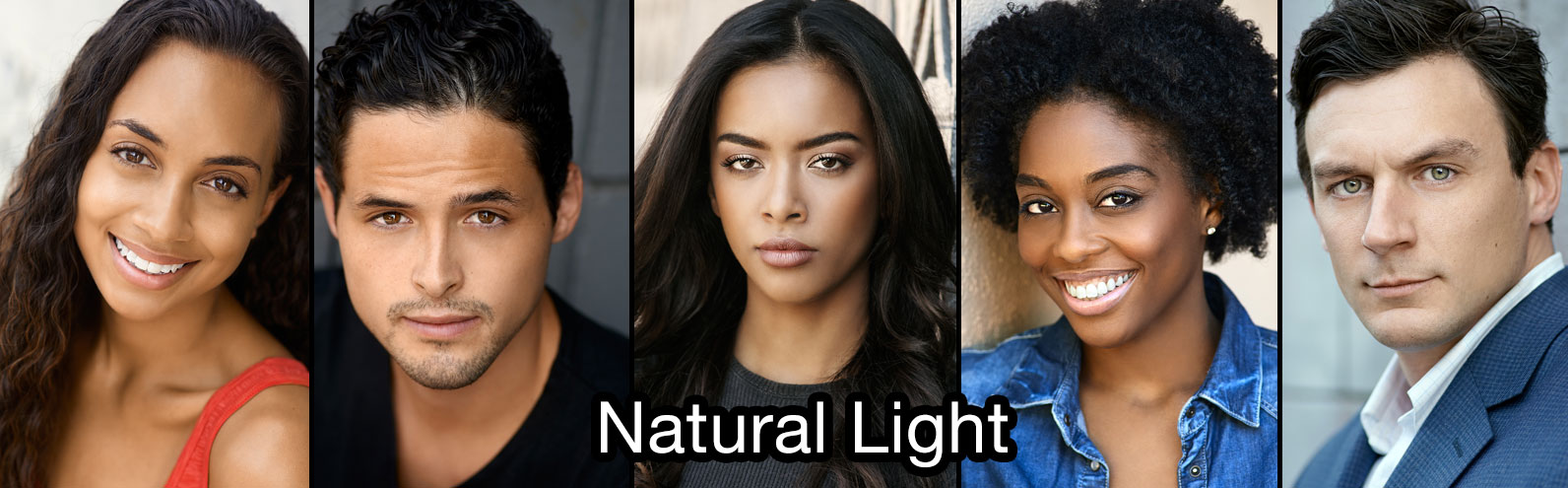 Sample of Natural Light Actor Headshots
